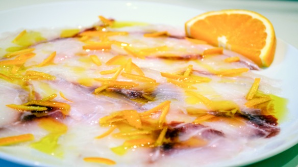 Carpaccio di Branzino all'arancia
